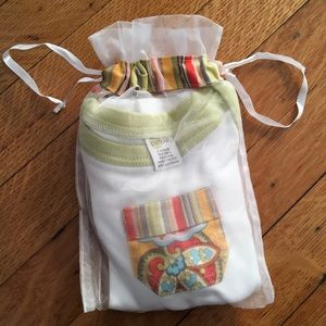 Hand Picked Pumpkin Accessories - Adorable T-shirt, diaper cover & gift bag. NWT